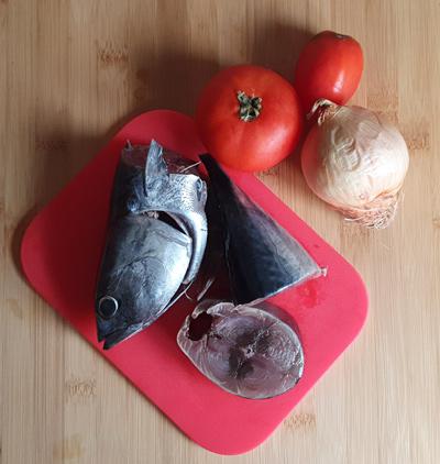 melva con tomate